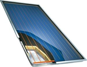 Warmwasser solar panel